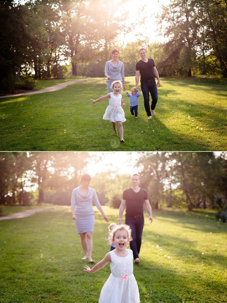 Focení rodiny v přírodě v Dendrologické zahradě