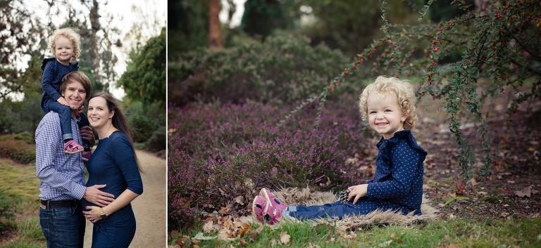 Dětský portrét holčiky v přírodě s vřesy
